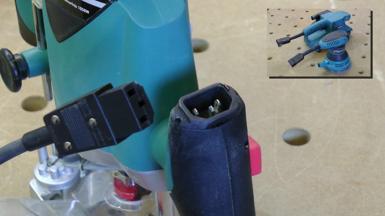 "Homemade ""Plug-it System"" for non-Festool tools"