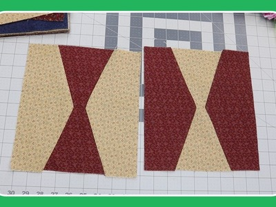 Hourglass Quilt Block Tutorial by Crafty Gemini