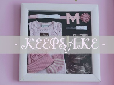 How to : Baby keepsake shadow box