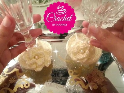 ☕ How to Crochet Decorations + #crochet_flower Romantic glass for all seasons