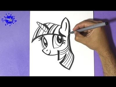 How to draw my little pony - Como dibujar a  twilight sparkle - how to draw twilight sparkle