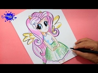 How to draw my little pony.Como dibujar a fluttershy my little pony. how to draw fluttershy mlp