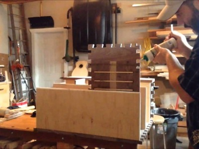 How to make a dovetail toolchest Part 4 (Complete Glue Up at 4x speed)