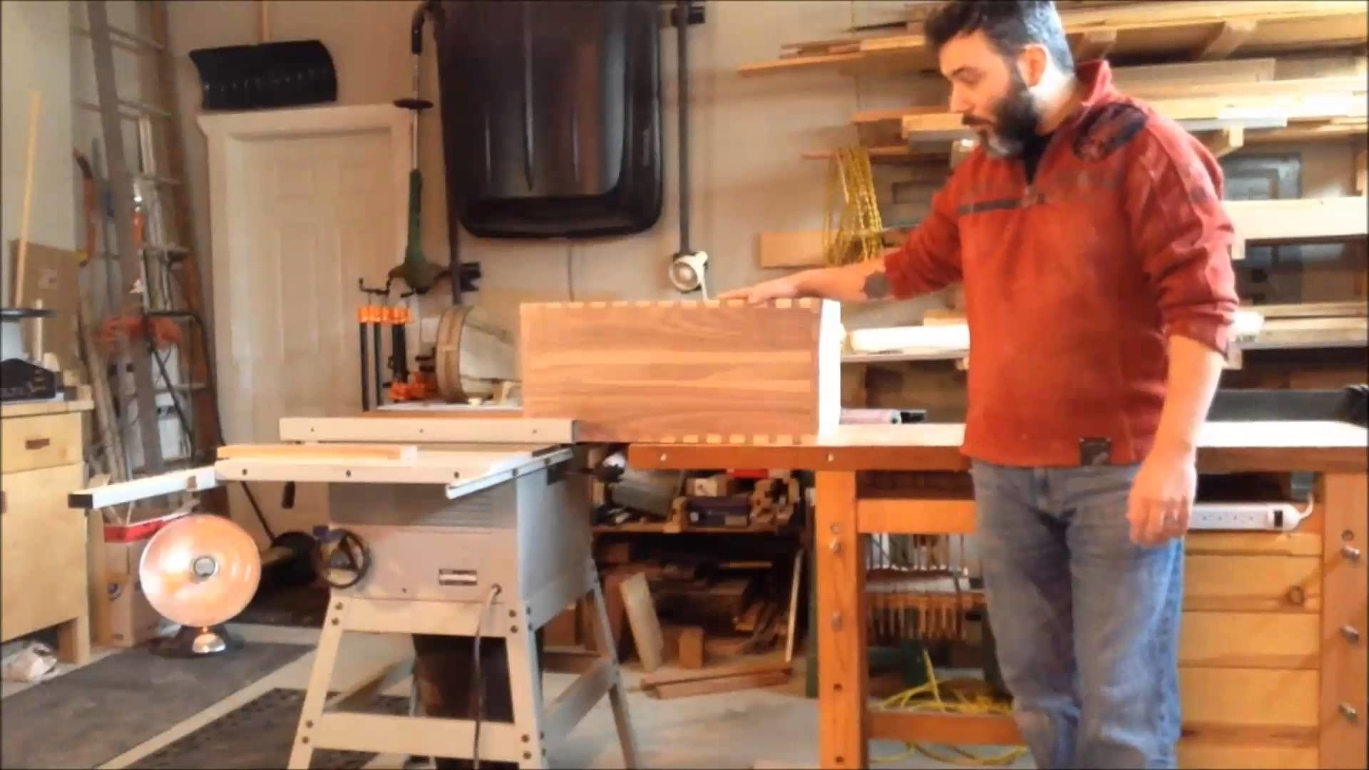How to make a dovetail toolchest Part 5 ( Fixing up Dovetails and Cutting Lid)