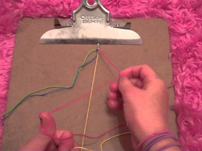 How to make friendship bracelets: changing color stripes