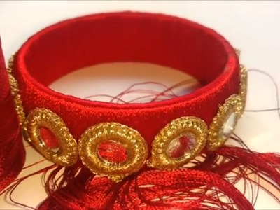 How to make silk thread mirror bangles | indian silk thread bangles, silk thread bangles making