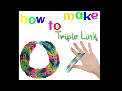 How To Make Triple Link Chain Using Fingers