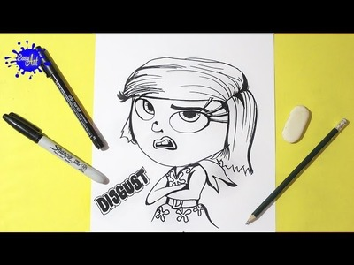 Inside Out l how to draw Disgust l intensa mente