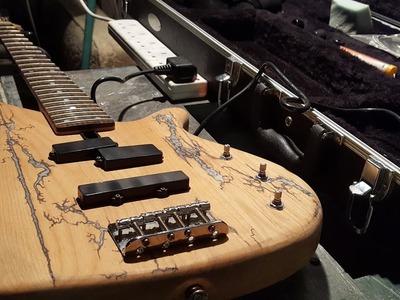 Lichtenberg Wood Burning -  Custom Guitar Inlay - Glow in the Dark Project