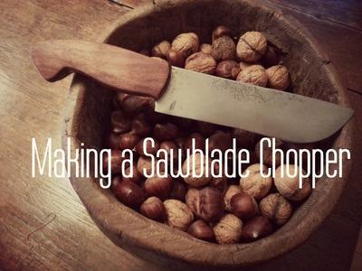 Making a sawblade knife