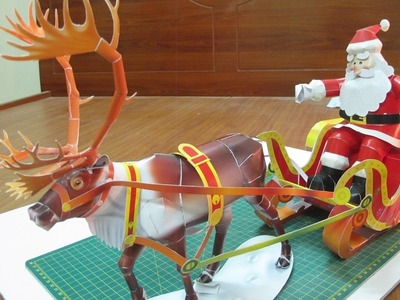 Making santa claus 3D model (reindeer – sled – santa claus) incredible ideas