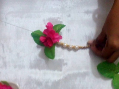Making Toran with Artificial Flowers & Beads