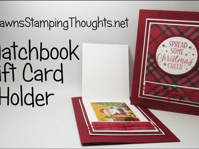 Matchbook Gift Card Holder using Stampin'Up! Products