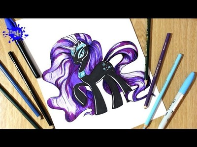 My little pony-como dibujar a Nightmare Rarity-how to draw my little pony,how to draw a Rarity