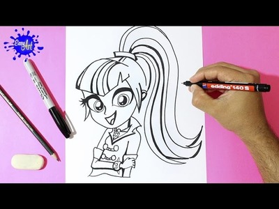 My little pony - Como dibujar Sonata Dusk - How to draw my little pony