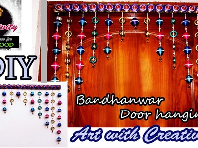 Newspaper wall hanging | Bandhanwar | Door hanging | Toran | Art with Creativity 107