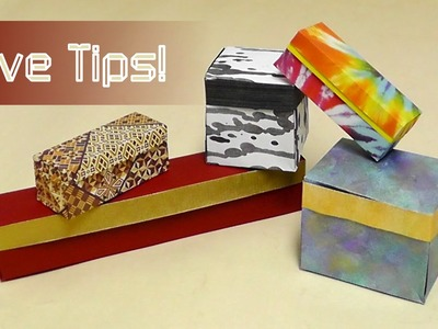 Origami Tips: Make your Box with Lid by Anna Kastlunger extra special