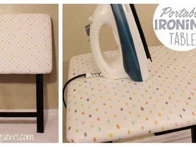 Portable Ironing Table   How-to Furniture Makeover   Whitney Sews   Life Hack