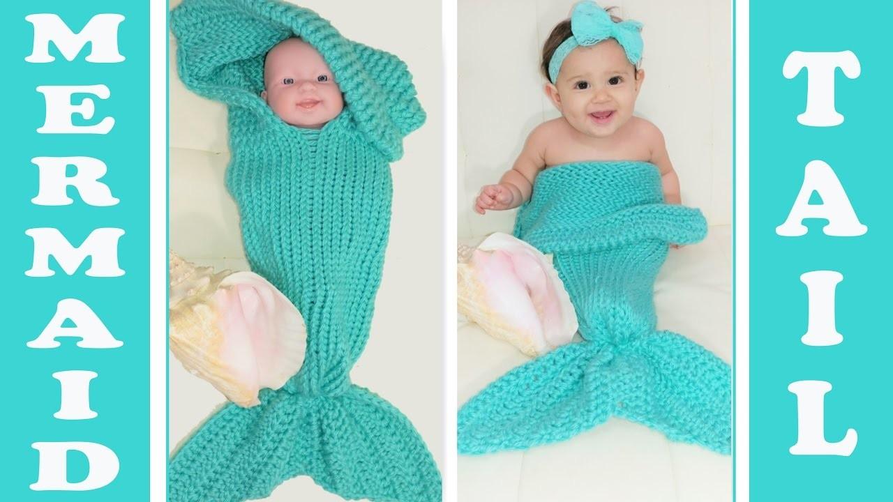 Pt. 2 ~Glama's 2 in 1 Loom Knit Mermaid Tail Cocoon.Blanket