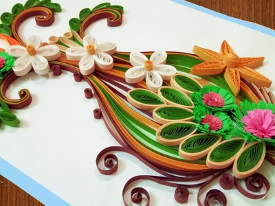 ☑️Quilling Card DIY Paper Quilling Birthday Greeting Card ⏭ Step by Step