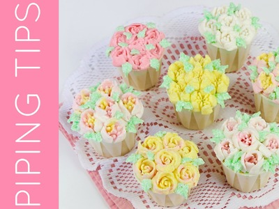 Russian Piping Tip Flower Cupcakes (How To Use Flower Frosting Nozzles). Lindsay Ann Bakes
