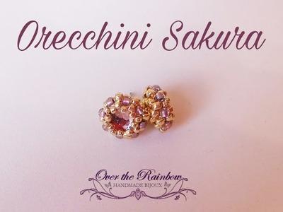 Sakura Earrings - Video Tutorial - Come incastonare un cabochon fondo piatto da 6mm