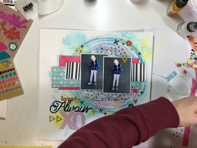 "Scrapbooking Process #62- ""Always Love Your Style"" for Clique Kits"