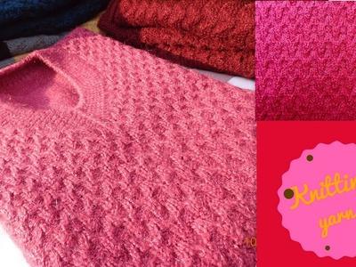Simple Pink designer half sweater (Hindi)