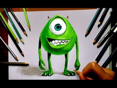 Speed Drawing: Mike Wazowski ► Monsters, Inc. Movie Character   Jasmina Susak