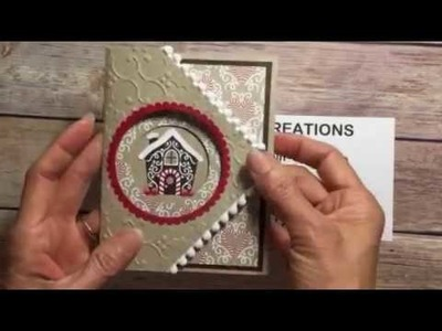 Stampin' Up! Fancy Fold Card with Candy Cane Lane DSP
