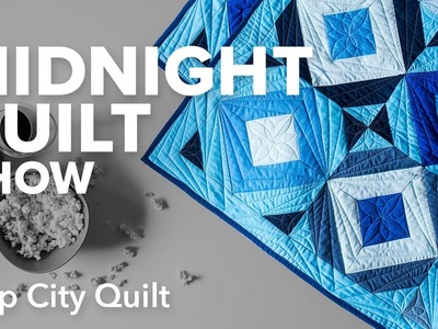 Strip City Quilt (Square in a Square Variation) | Midnight Quilt Show with Angela Walters
