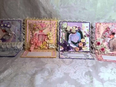 Victorian Shabby Chic Mothers Day Cards for Nit Wit Collections + Tutorial