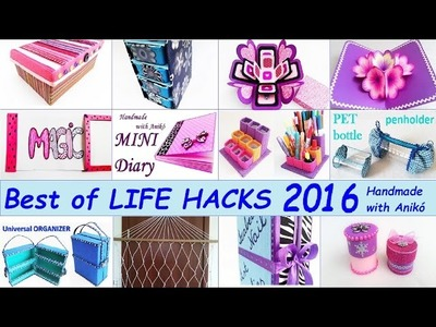 12 LIFE HACKS Best of 2016 - Handmade with Anikó