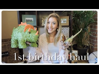 1st Birthday Party Decoration Haul | Landon Before Time