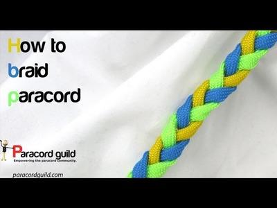 3 strand flat braid