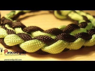 4 strand round braid- the diamond braid