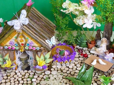 Beautiful Magical Fairy House and Garden .  Easy to make .