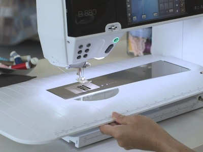 BERNINA 880: first steps, how to thread and prepare for sewing