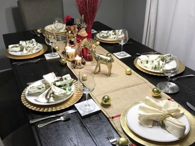 Christmas Tablescape; using items from Dollar Tree, Michaels and Tuesday Morning