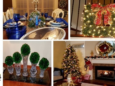 Christmas Tour 2016 | Living Room | Foyer & Tablescape With Dollar Tree