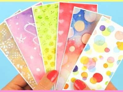 DIY: Bookmarks & Watercolor Techniques for Beginners Part 2 | Watercolor DIY | How To Make Bookmarks