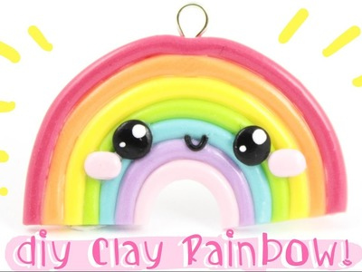 ♡ DIY EASY & CUTE Rainbow! -In Polymer Clay- ♡ | Kawaii Friday