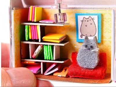 DIY Miniature Dollhouse & Swing & Cat