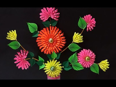 DIY Projects : How to Make Beautiful Paper Dahlia Craft for Home Decoration | DIY Room Decor