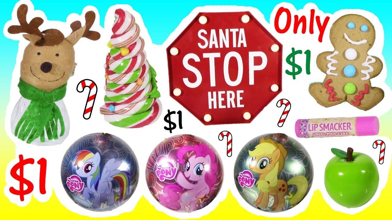 DOLLAR TREE ULITMATE HOLIDAY BONANZA! Stocking Stuffers CANDY Decor MLP LIP GLOSS! FUN