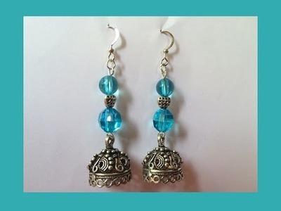 Earring Making - Beautiful Jhumka Earrings Making With Beads