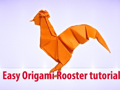 Easy Origami Rooster tutorial ♡ Origami THs.