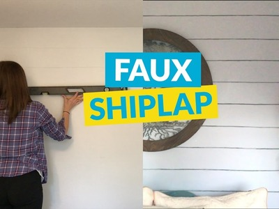 Fixer Upper Style Shiplap On a Budget!