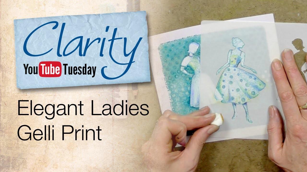 Gelli Plate How To - Elegant Ladies Gelli Print