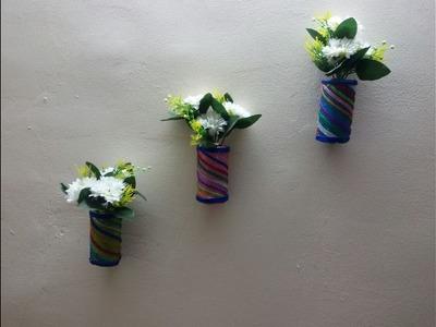 Handmade wall hanging vase